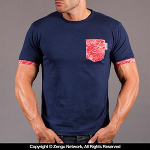 Scramble Irezumi Navy T-Shirt